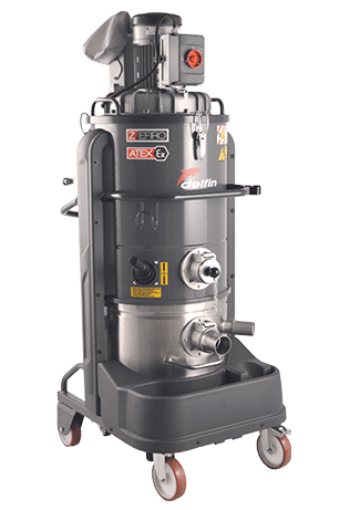 Vacuuming solution for combustible dust extraction