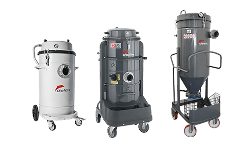 Industrial compressed air vacuum cleaners