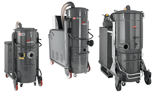 Three phase industrial vacuum cleaners