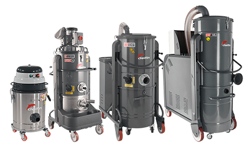 Atex certified industrial vacuum cleaners