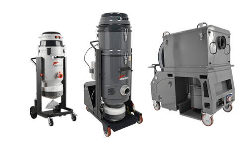 Industrial vacuum for fine or toxic dust